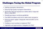 challenges facing the global program