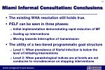 miami informal consultation conclusions