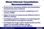miami informal consultation recommendations