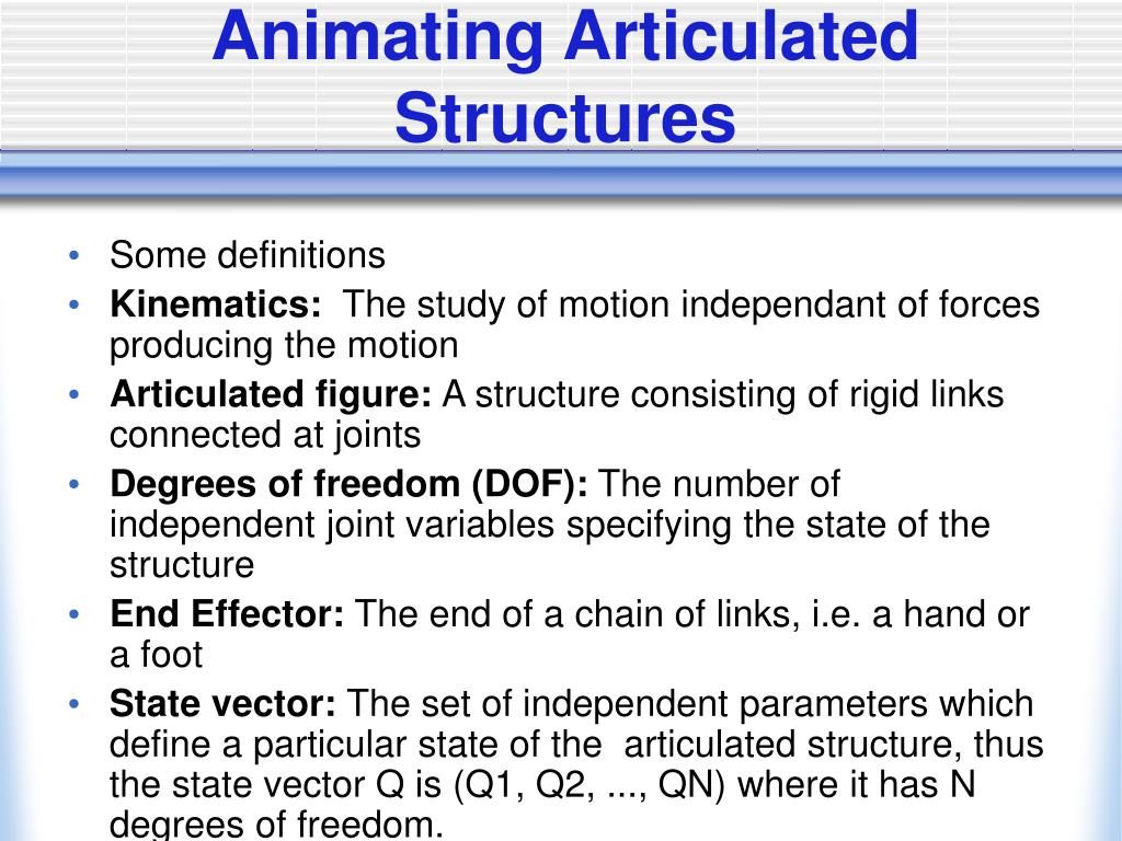 Animating Articulated Structures