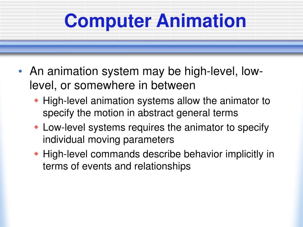 Computer Animation
