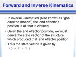 forward and inverse kinematics23