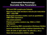 automated hematology desirable new parameters