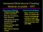 automated reticulocyte counting methods available 1997