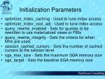 initialization parameters60