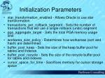 initialization parameters61