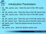 initialization parameters62