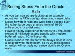 seeing stress from the oracle side52