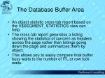 the database buffer area37