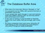 the database buffer area41