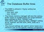 the database buffer area42