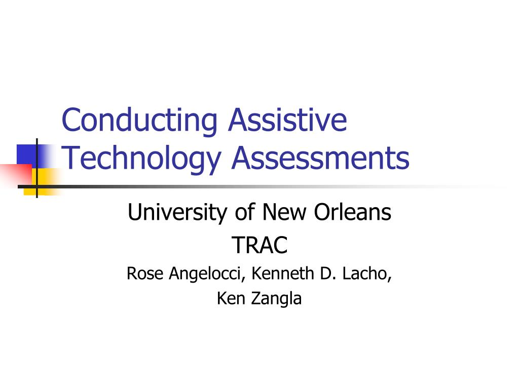 conducting assistive technology assessments l.