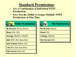 standard permissions