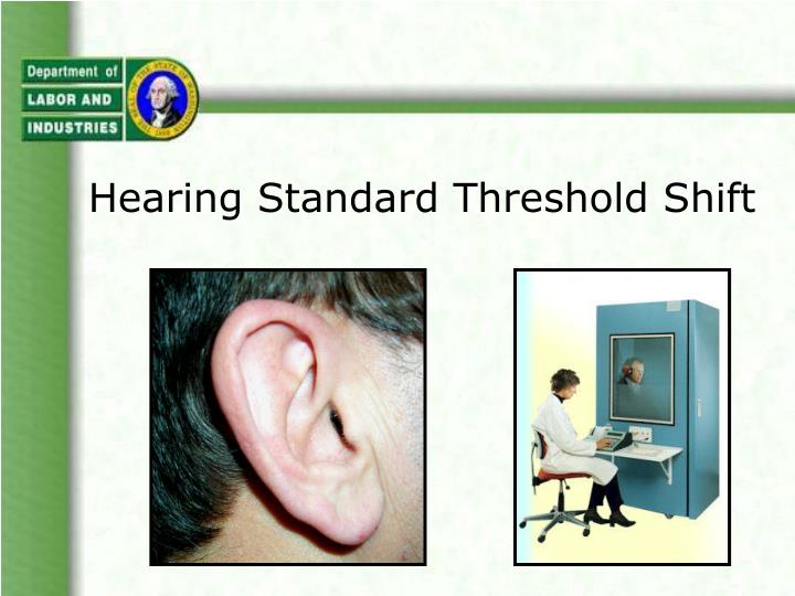 hearing standard threshold shift n.