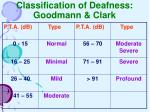 classification of deafness goodmann clark
