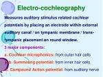 electro cochleography