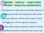 m ultiple a uditory st eady state e voked r esponse audiometry