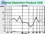 normal distortion product oae