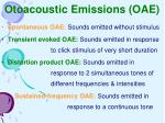 otoacoustic emissions oae