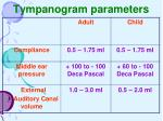 tympanogram parameters