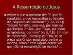 a ressurrei o de jesus