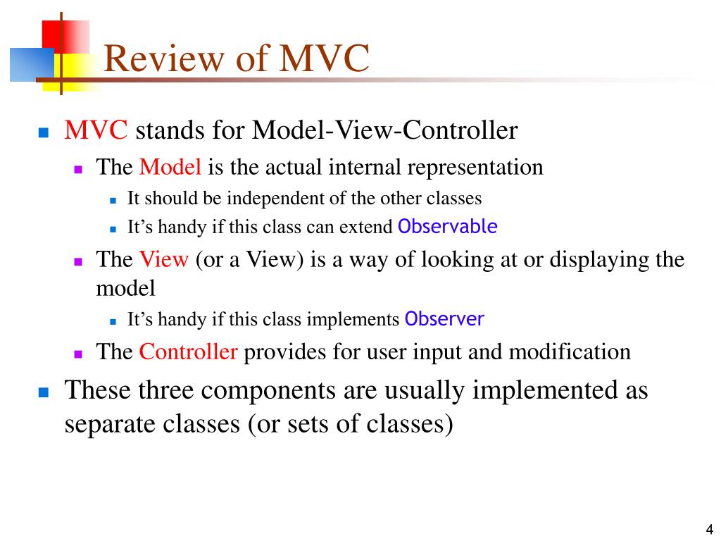 Review of MVC