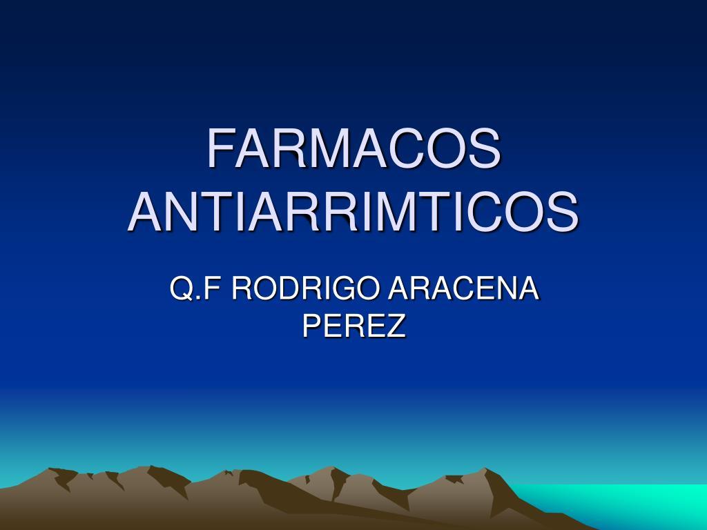 farmacos antiarrimticos l.