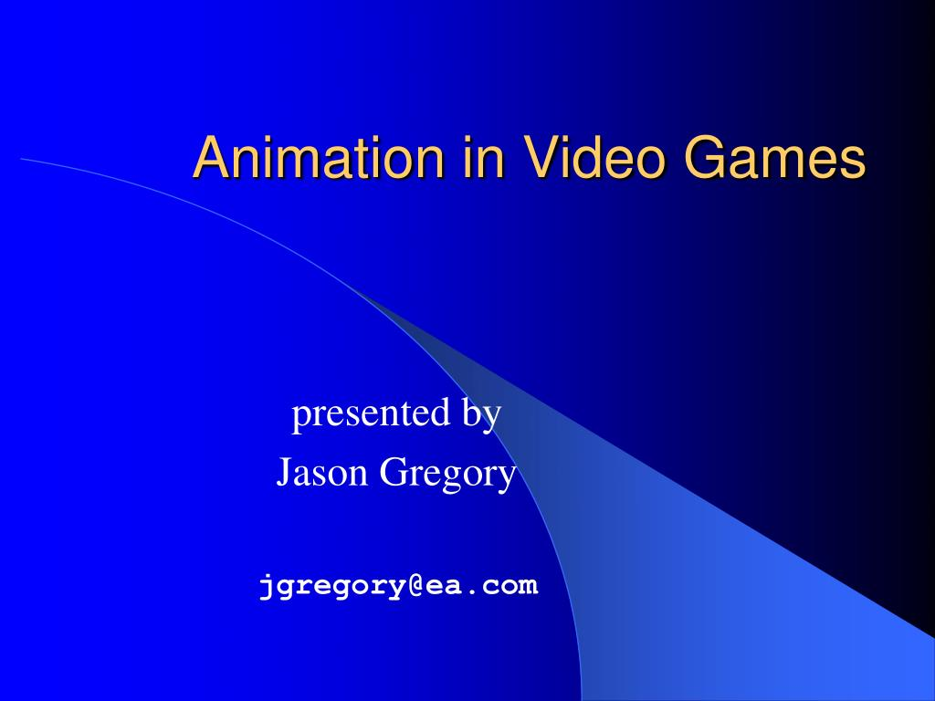 animation in video games l.