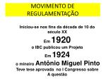 movimento de regulamenta o
