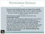 newtonian science