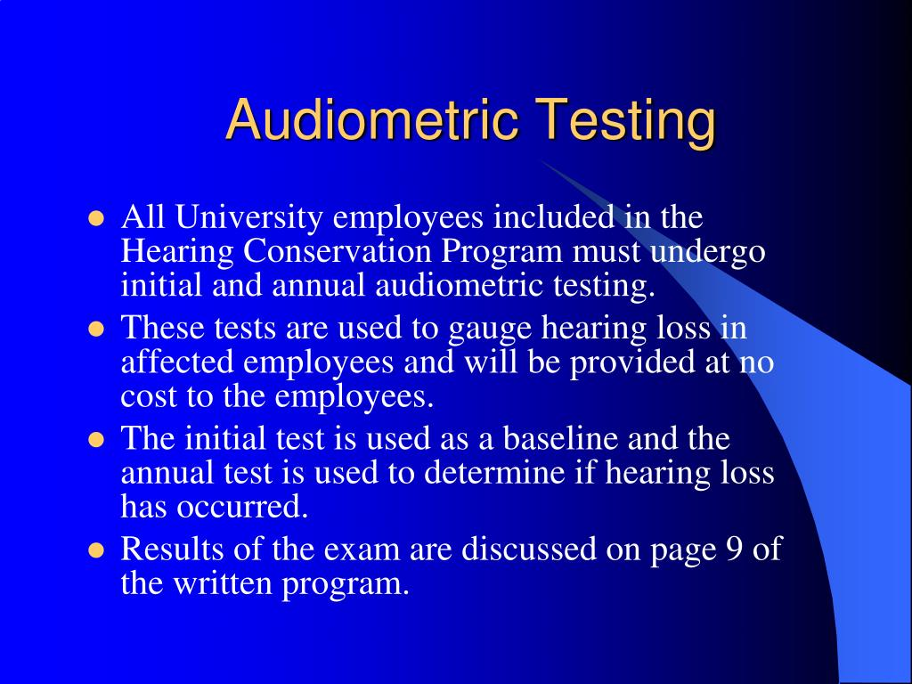 Audiometric Testing