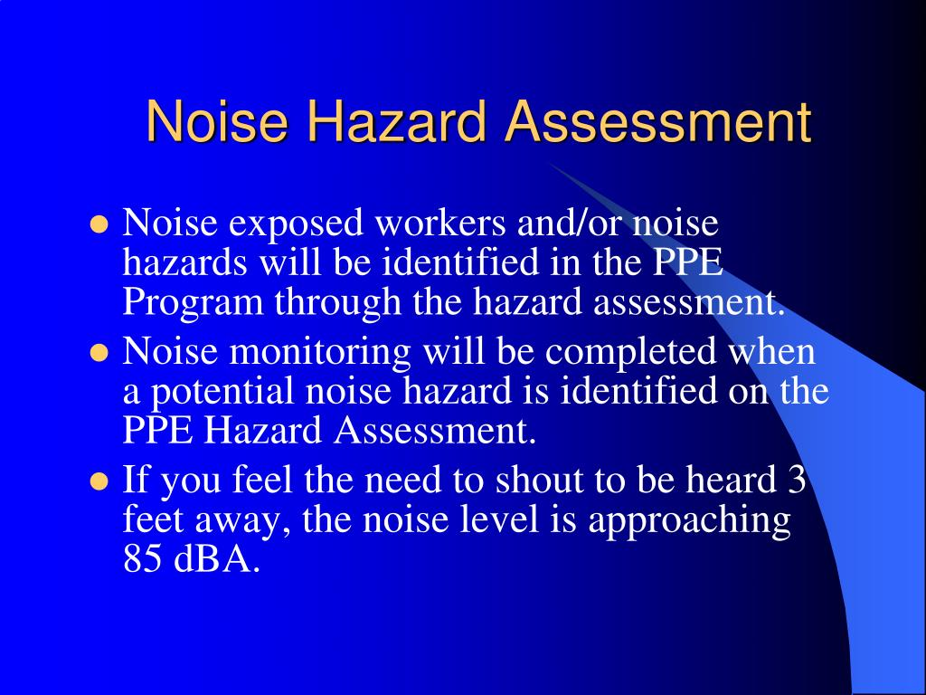 Noise Hazard Assessment