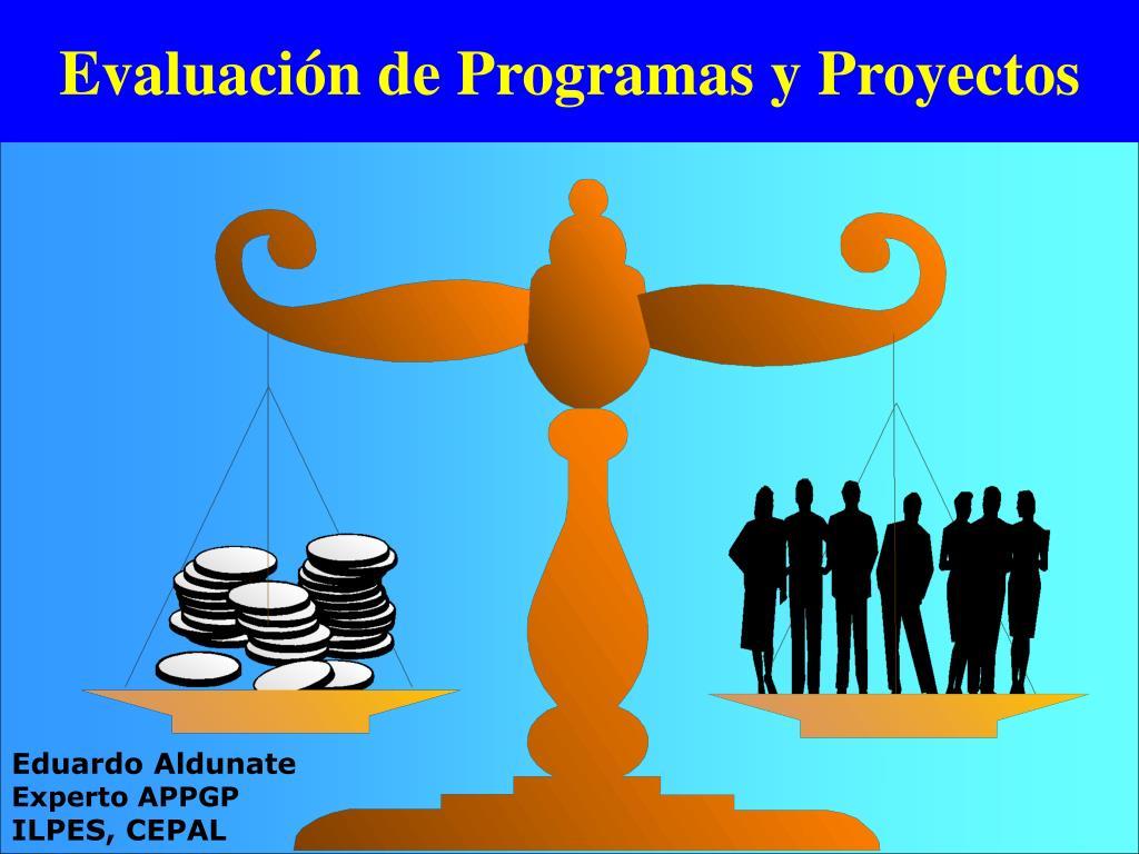 evaluaci n de programas y proyectos l.