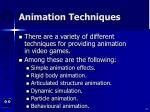 animation techniques