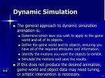 dynamic simulation39