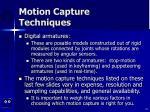 motion capture techniques53