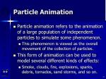 particle animation