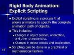 rigid body animation explicit scripting