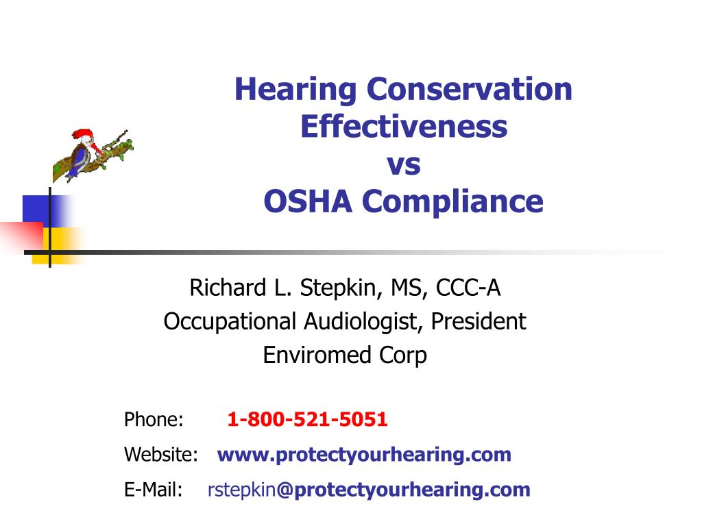 hearing conservation effectiveness vs osha compliance l.