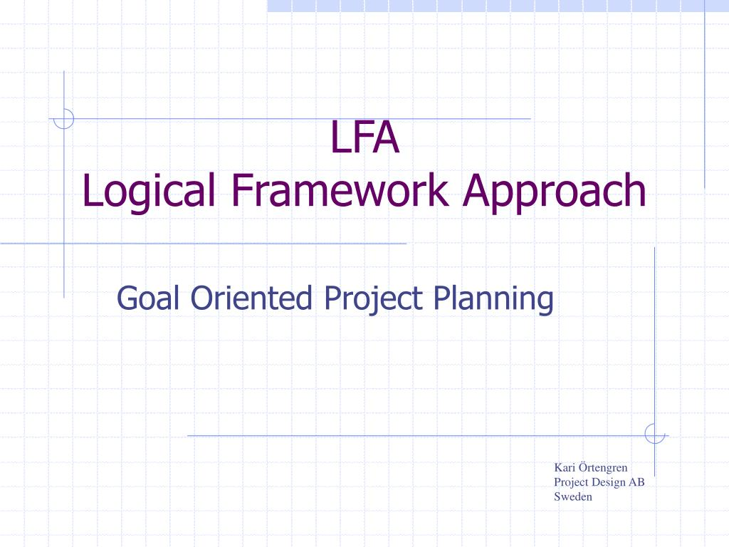 lfa logical framework approach l.