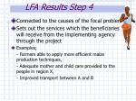 lfa results step 4