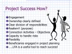 project success how