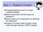 step 1 projects context