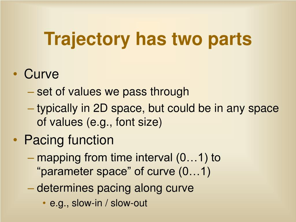 Trajectory has two parts