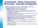 australia bom whole of government dm activities nationally and regionally