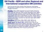 sw pacific isdr and other regional and international cooperative dm activities