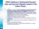 wmo initiatives in earthquake tsunami early warning and mitigation system in the indian ocean28