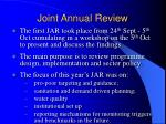 joint annual review