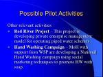 possible pilot activities22