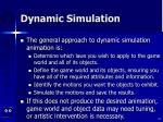 dynamic simulation42